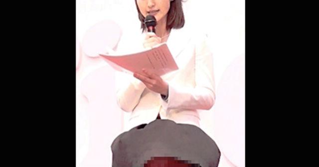 【画像】報道ステーション小川彩佳アナ強風でスカート舞い上がりパンツ丸見え(GIFあり)